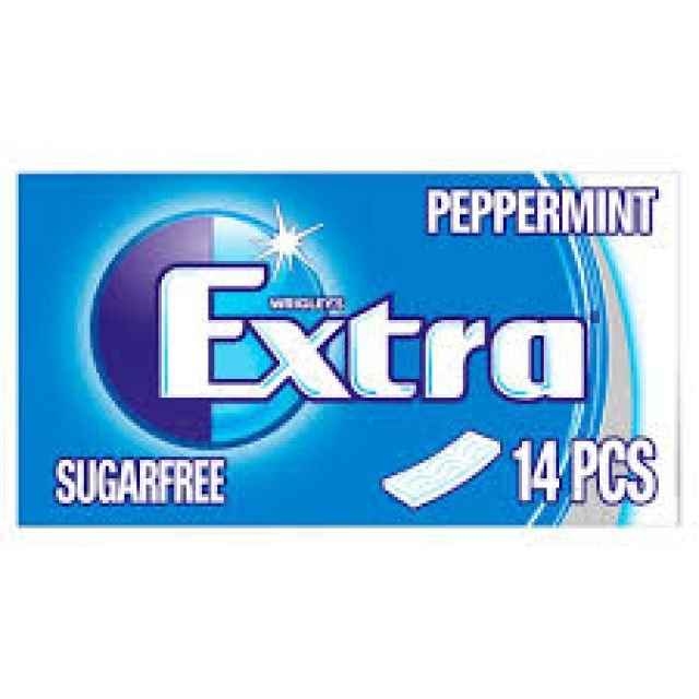 Chewing Gum Extra Peppermint 14 Sticks Sugar Free