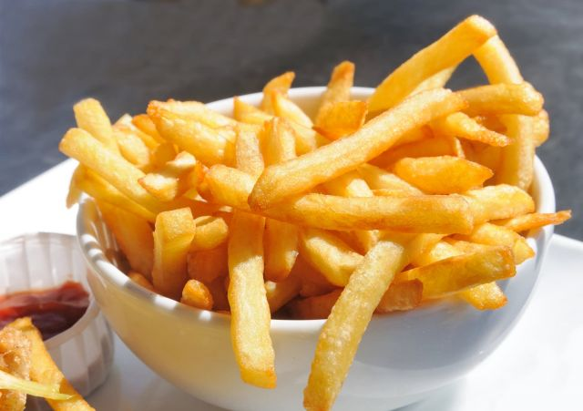 Fries in Pitta Bread