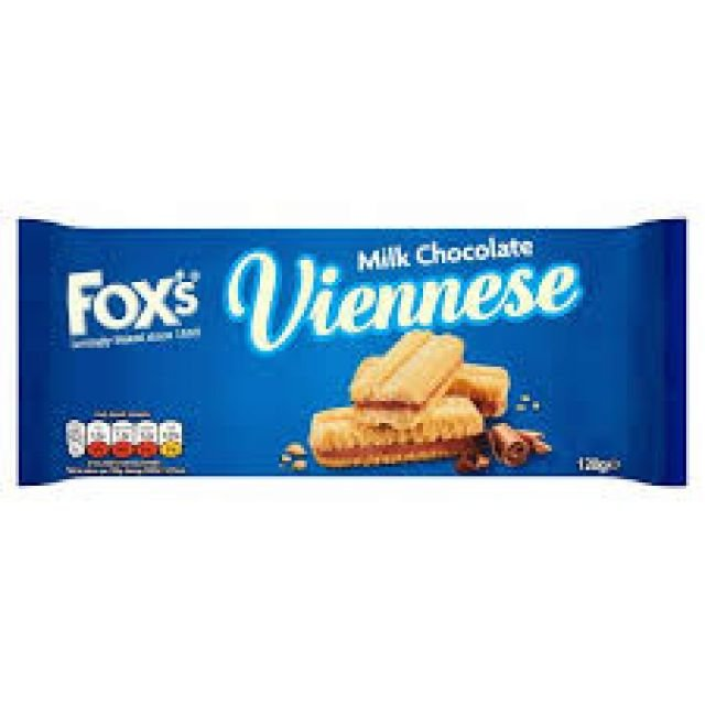 Fox Viennese Milk Chcolate 120g