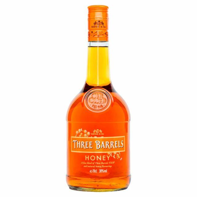 Brandy Three Barrels Honey 70cl