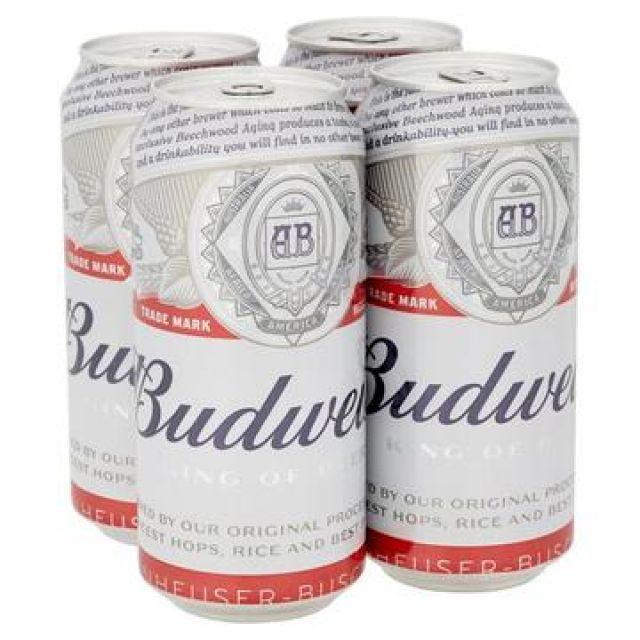 Budweiser 500ml 4 Pack Cans