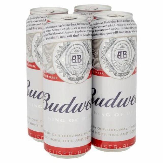 Budweiser 568ml Cans 4 Pack