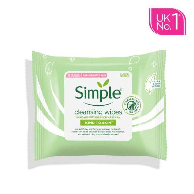 Simple Cleansing Facial Wipe (25 Pack)