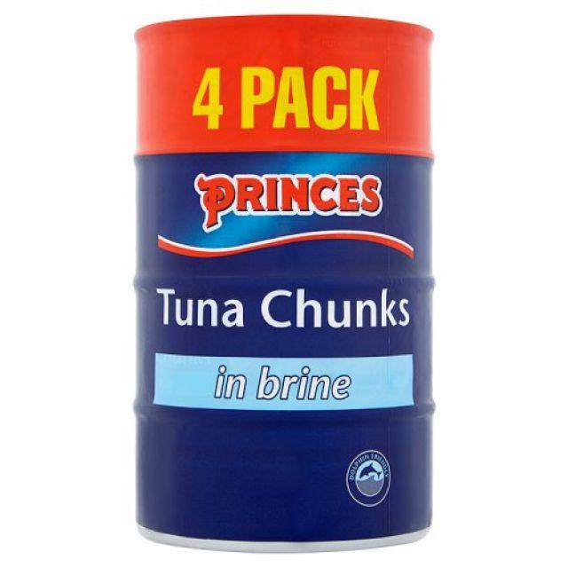 Tuna Chunks in Brine Princes 4 Pack