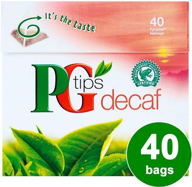 PG Tips Decaf 40 Tea Bags