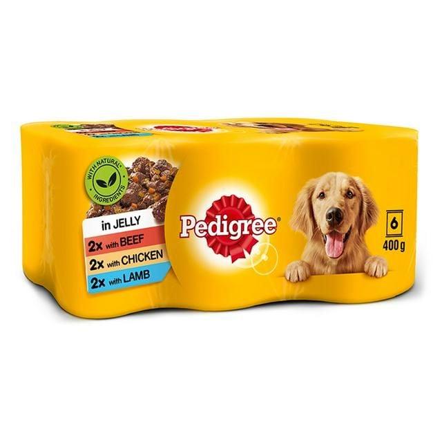 Dog Food Pedigree Jelly Mixed 6 Pack