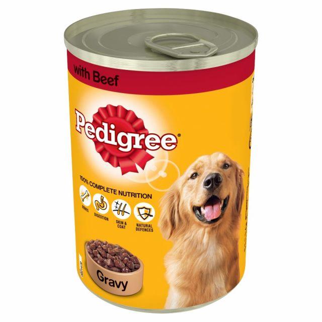 Dog Food Pedigree Gravy & Beef 400g Tin