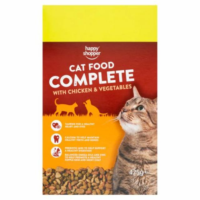 Cat Food Complete Chicken & Vegetables Happy Shopper 425g Box