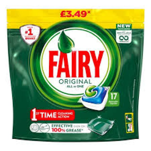 Fairy Original All in 1 Dishwasher Tablets 17 Tablets