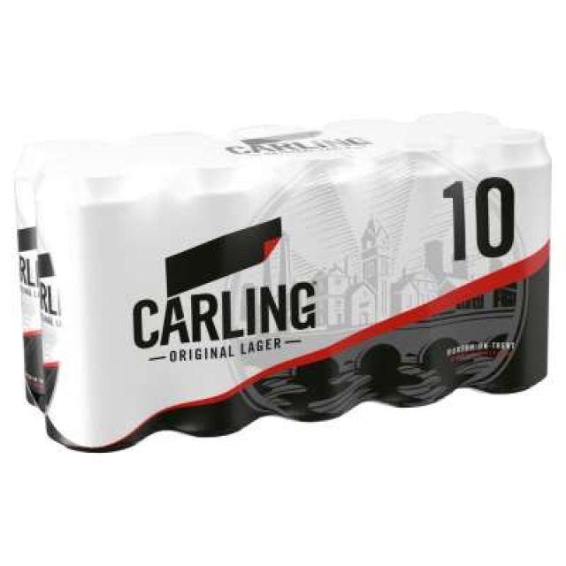 Carling 10 Pack Cans
