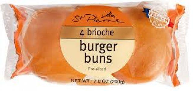 St Pierre Brioche Buns 4 Pack