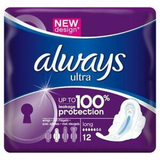 Sanitary Pads Always Ultra Long Plus 12 Pads