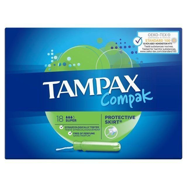 Tampax Compak Super 18 Protective Skirt