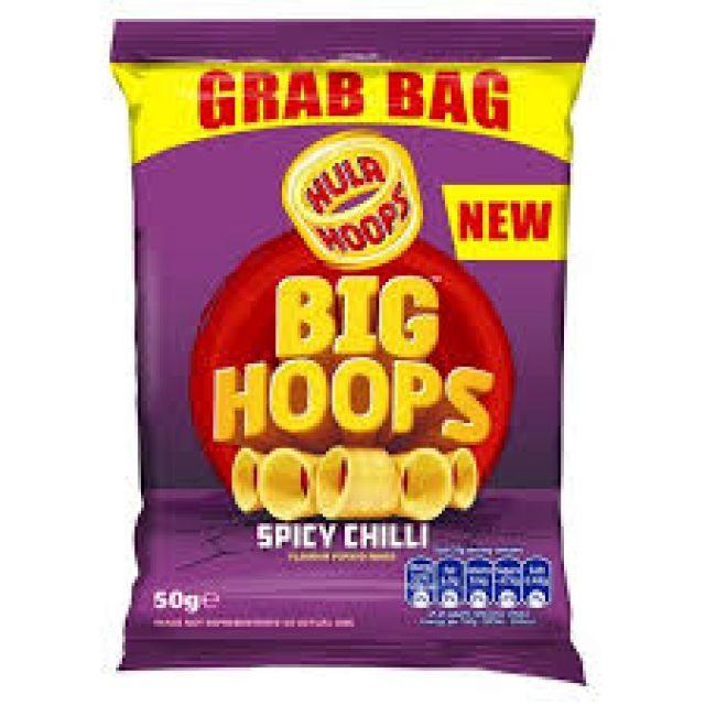 Hula Hoops Big Hoops Spicy Chilli