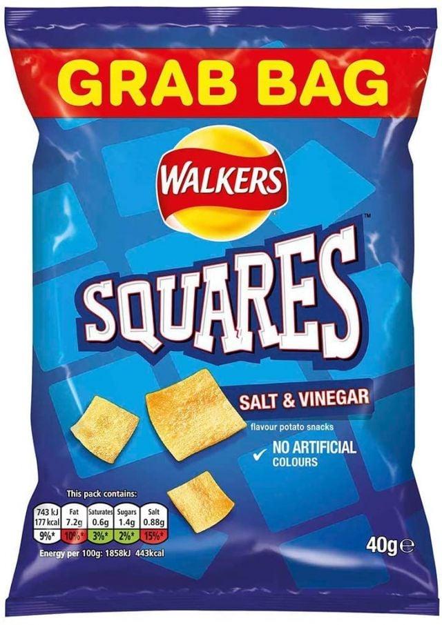 Walker's Squares Salt & Vinegar
