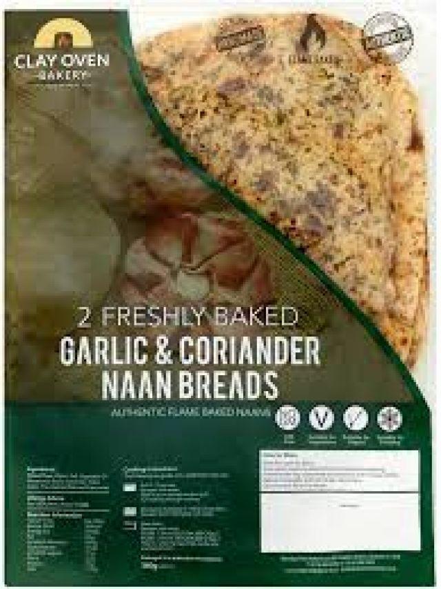 Clay Oven Bakery 2 Naan Garlic & Coriander