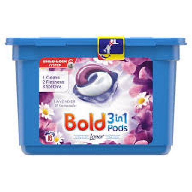 Bold 3 in 1 Laundry Pods Lavender
