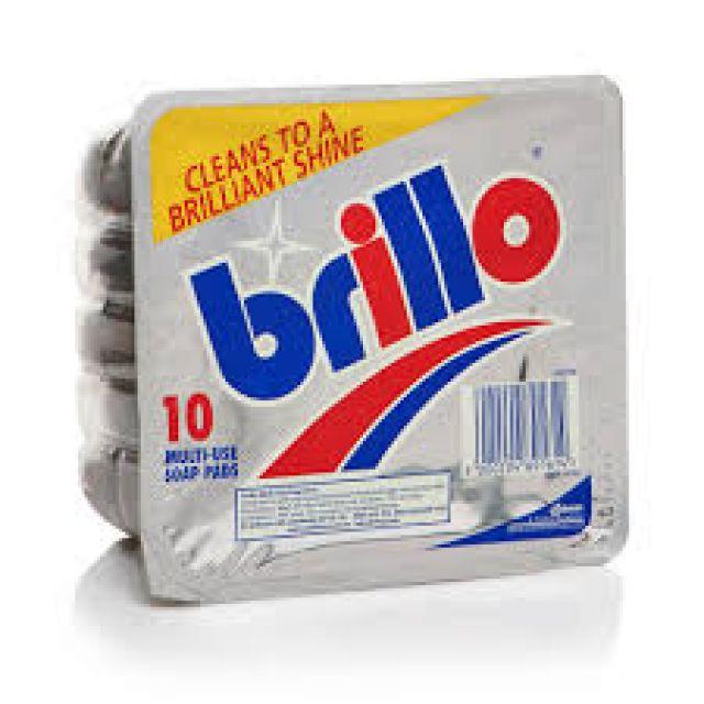 Brillo Multi Use Soap Pads Cleans To a Brilliant Shine