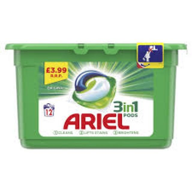 Ariel 3 in 1 Laundry Pods