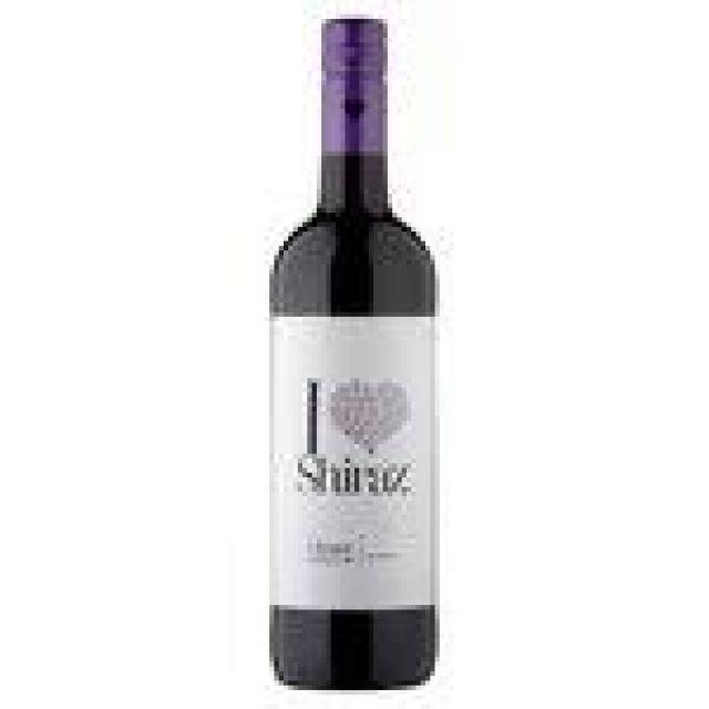 I Heart Shiraz 75cl Red Wine Bottle