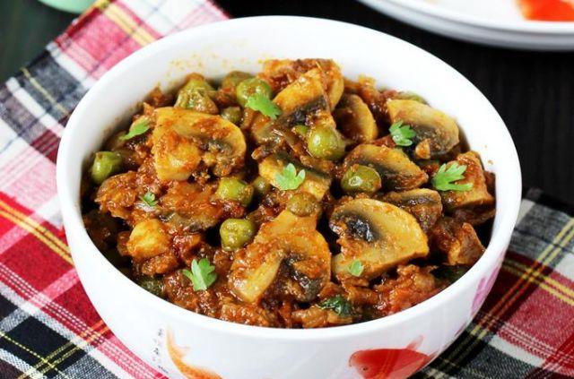 Malik's Mushroom Sabzi