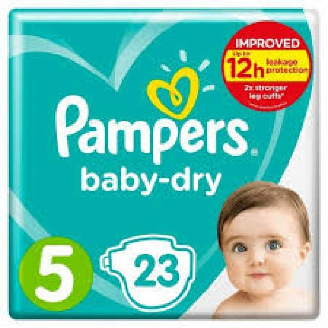 Pampers Baby Dry 23 Nappies 5