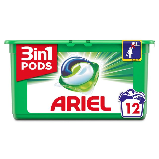 Ariel 3 in 1 Laundry 12 Pods