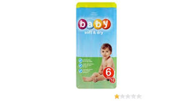 Baby Soft & Dry 12 Nappies Happy Shopper 6