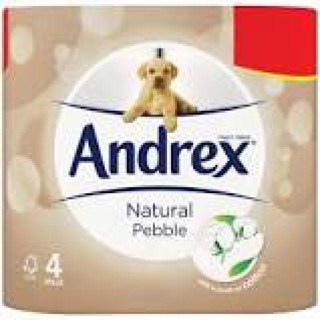 Andrex 4 Toilet rolls Natural Pebble