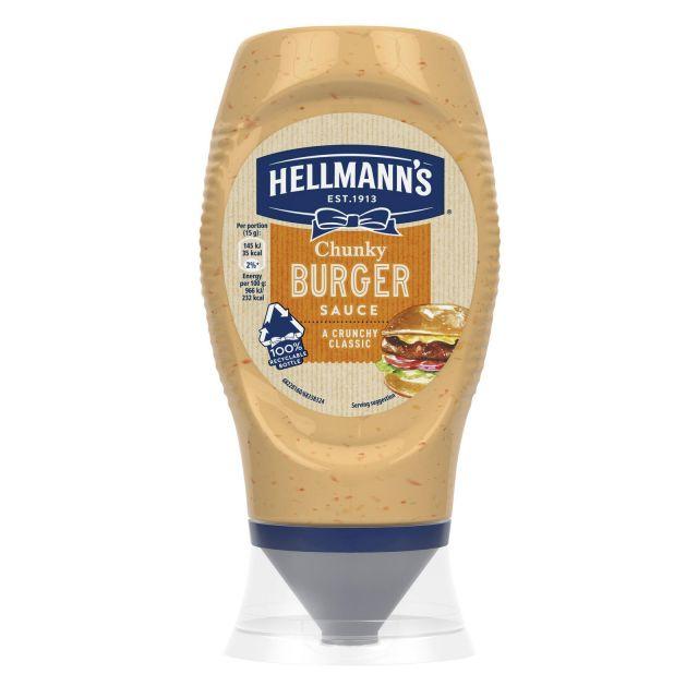 Chunky Burger Sauce Hellmans 285g
