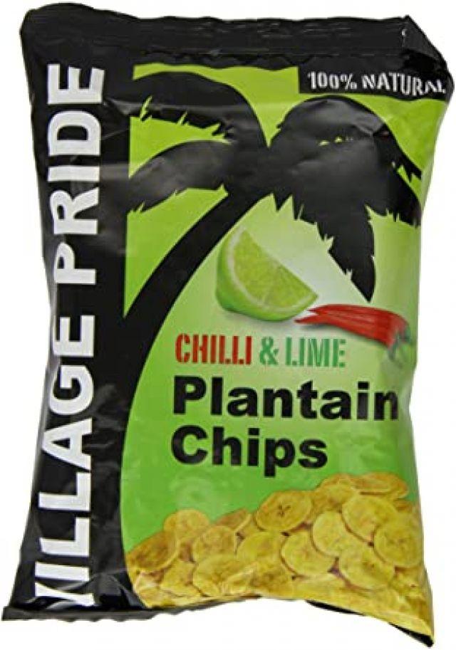 Plantain Chilli & Lime Chips Village Pride