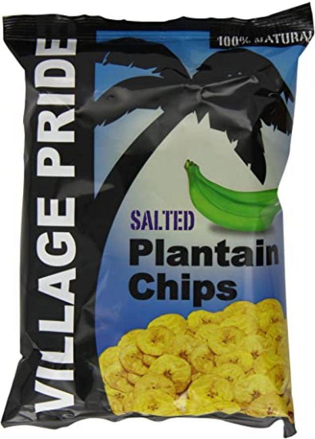 Plantain Salted Chips Village Pride