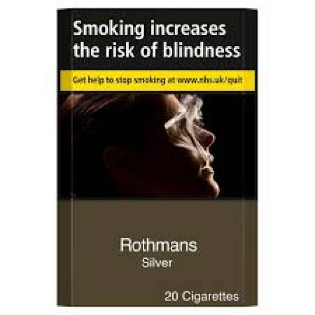 Rothmans Silver Cigarettes