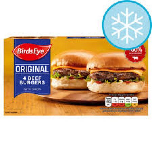 Birds Eye 4 Beef Burgers