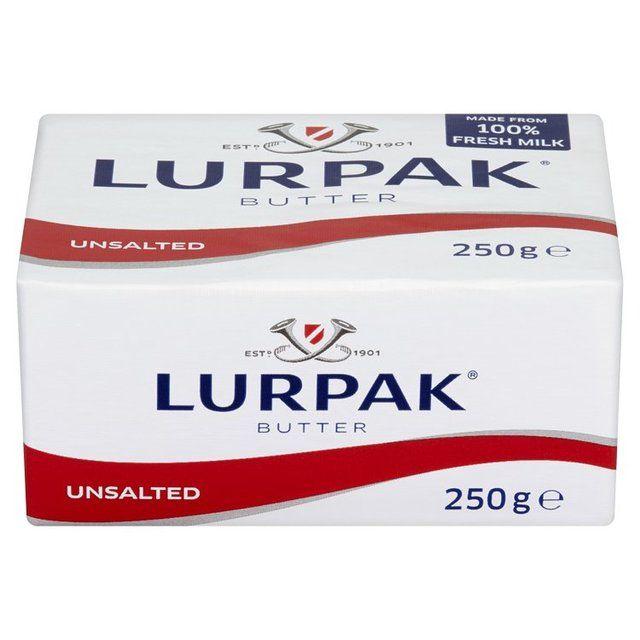 Butter Lurpak Unsalted Block 250g