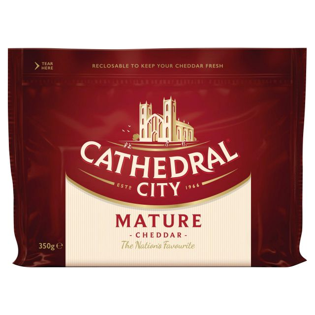 Cheese Mature Cheddar 350g Cathedral