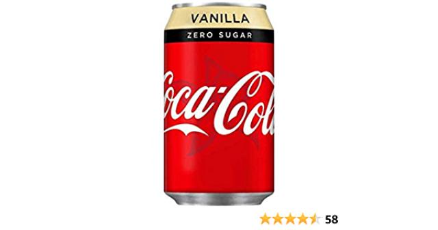 Coke Vanilla Zero Can 330ml