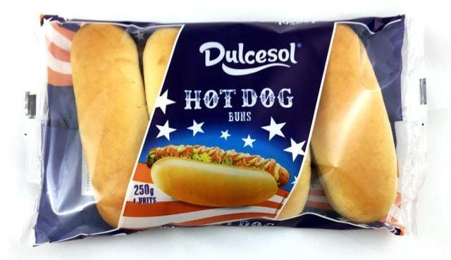 Hot Dog Buns Dulcesol 4 Pack