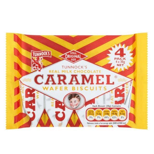 Caramel Bars Tunnocks 4 Pack