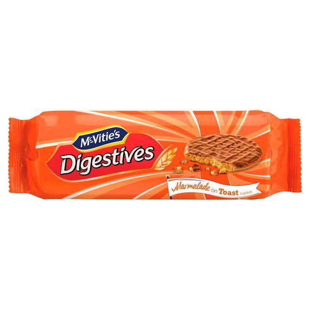 Mcvities Digestive Chocolate Marmalade on Toast