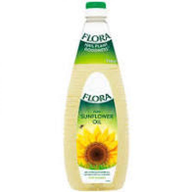 Sunflower Cooking Oil Flora 1L