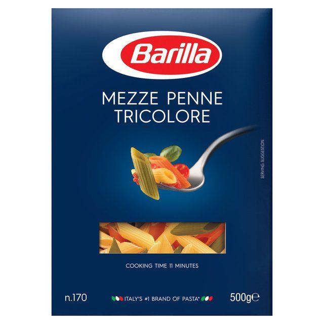 Barilla Mezze Penne Tricolore Pasta