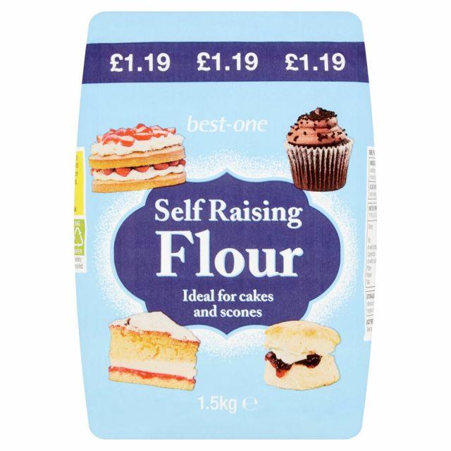Self Raising Flour 1.5kg Best-One