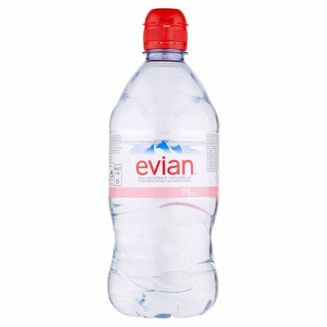 Water Evian Bottle 750ml