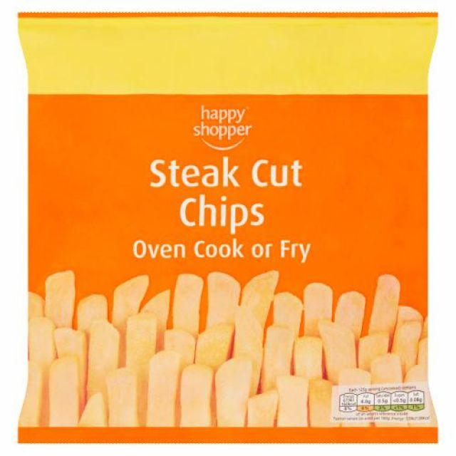 Chips Steak Cut 750g Happy Shopper