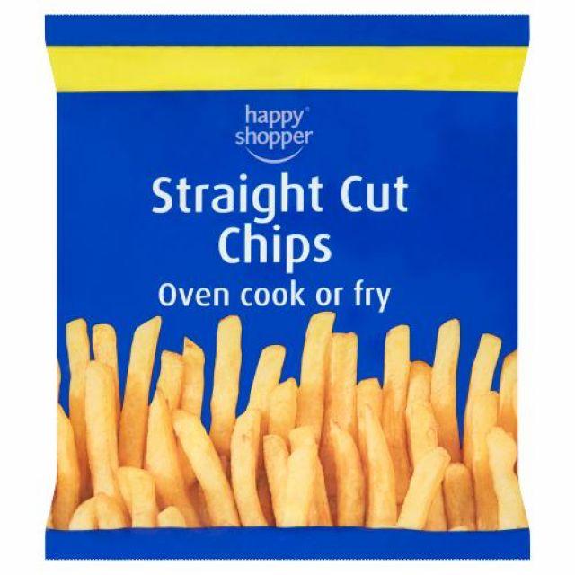 Chips Straight Cut 750g Happy Shopper