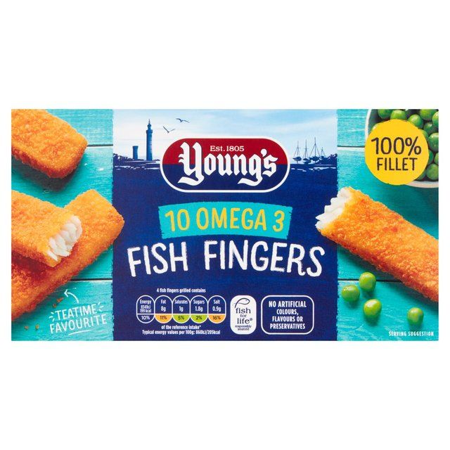 Fish Fingers Youngs 10pcs