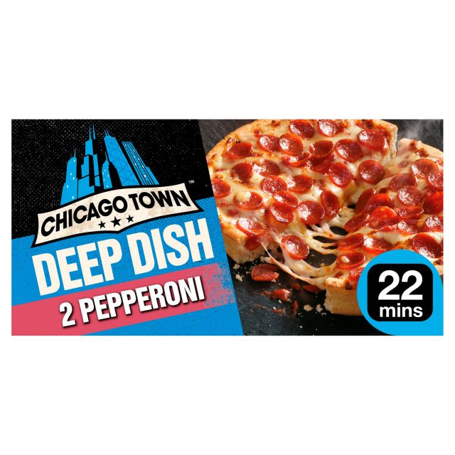 Pizza 2 Pepperoni Chicago Town Deep Dish