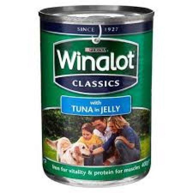 Winalot With Tuna & Jelly can 400g Dog Food