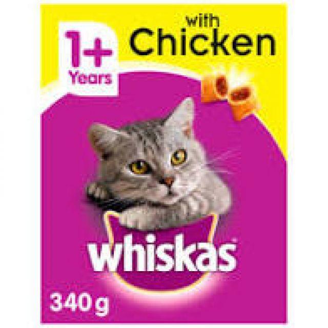 Whiskas Tasty Filled Pockets Chicken 340g Cat Dry Food
